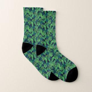 Tropical Leaves Pattern Socks