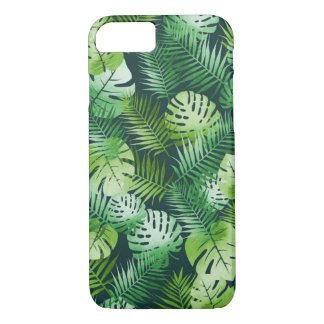 Tropical leaves phone case