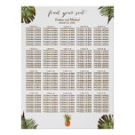Tropical Leaves Pineapple 20 Tables Seating Chart
