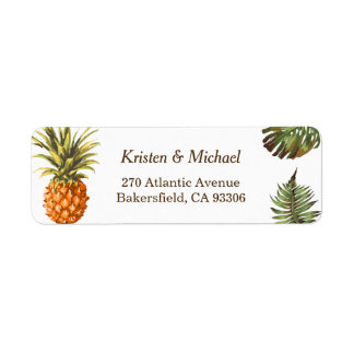 Tropical Leaves Pineapple Decor Luau Wedding