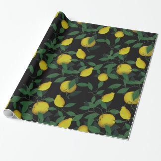 Tropical Lemon Wrapping Paper