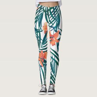Tropical Lilies Leggings