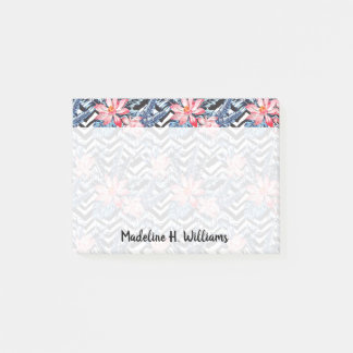 Tropical Lotus Flower Pattern Post-it Notes