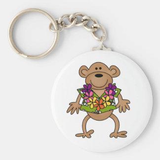 Tropical Luau Monkey Key Chain
