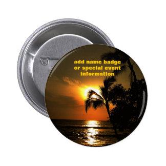 Tropical Luau Name Badge