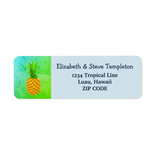 Tropical Luau Pineapple Return Address Labels