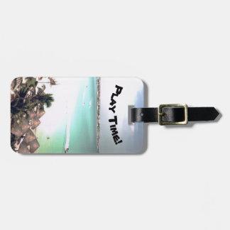 Tropical luggage tag