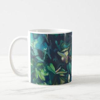 Tropical Magnolia ceramic floral mug