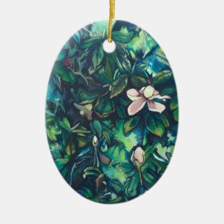 Tropical Magnolia floral ornament