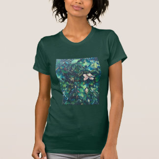 Tropical Magnolia floral t-shirt