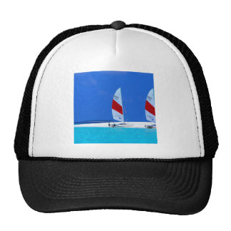 Tropical Maldives Boating Heaven Mesh Hats