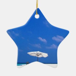 Tropical Maldives Lunch Is Served Christmas Ornament