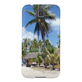 Tropical Maldives Palm Grove Shacks Galaxy S5 Case