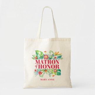Tropical | Matron of Honor Destination Wedding Tote Bag