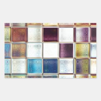 Tropical Memories Mosaic Tile Art Rectangular Stickers