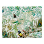 Tropical Mix Collage Landscape Poster