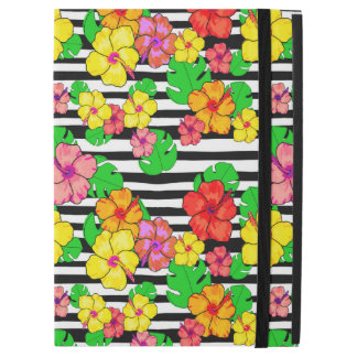 "Tropical modern black and white stripe iPad Pro iPad Pro 12.9"" Case"