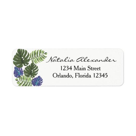 Tropical Modern Floral Return Address Label