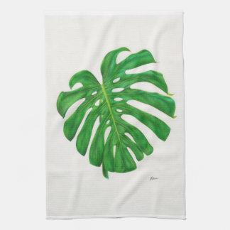 Tropical Monstera Leaf Kitchen Towels