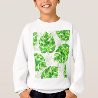 Tropical Monstera Leaves Unique Pattern Sweatshirt