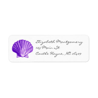 Tropical Moonlight Purple Sea Shell Labels