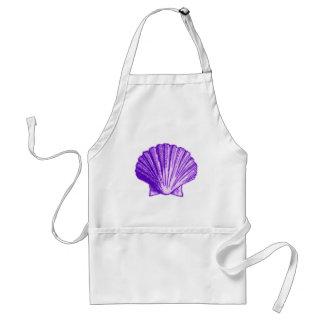 Tropical Moonlight Purple Shell Apron