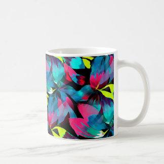 Tropical Neon Splash in Paradise Basic White Mug