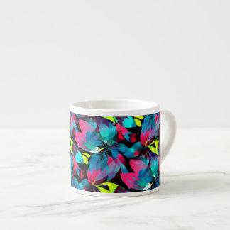 Tropical Neon Splash in Paradise Espresso Mug