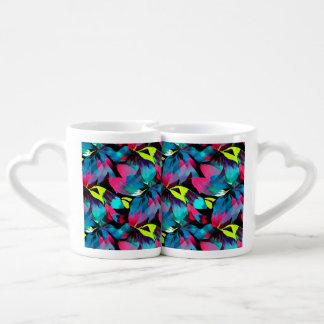 Tropical Neon Splash in Paradise Lovers Mug