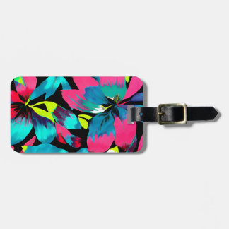 Tropical Neon Splash in Paradise Luggage Tag
