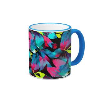 Tropical Neon Splash in Paradise Ringer Mug