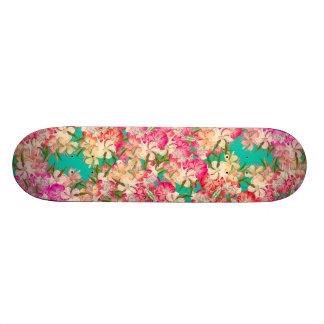 Tropical Oleander Floral Flowers Island Skateboard