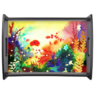 Tropical one. serving tray