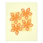 Tropical orange flowers on cream. Pretty. Flyer Design