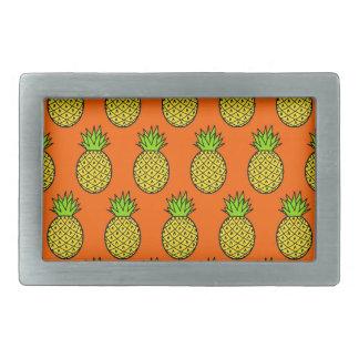 Tropical Orange Pineapples Belt Buckles