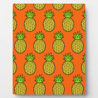 Tropical Orange Pineapples Plaque