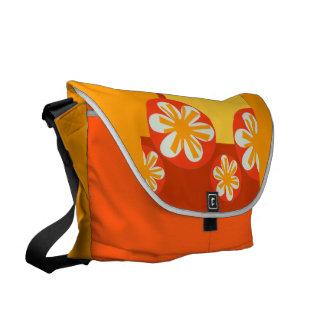 Tropical Orange  Pretty Bold Flowers Courier Bag
