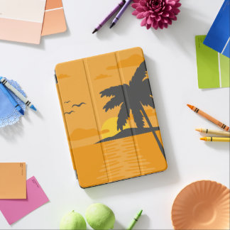 Tropical Orange Sunset & Palm Tree iPad Air Case iPad Air Cover