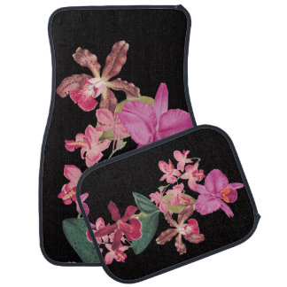 Tropical Orchid Floral Flowers Island Floor Mats