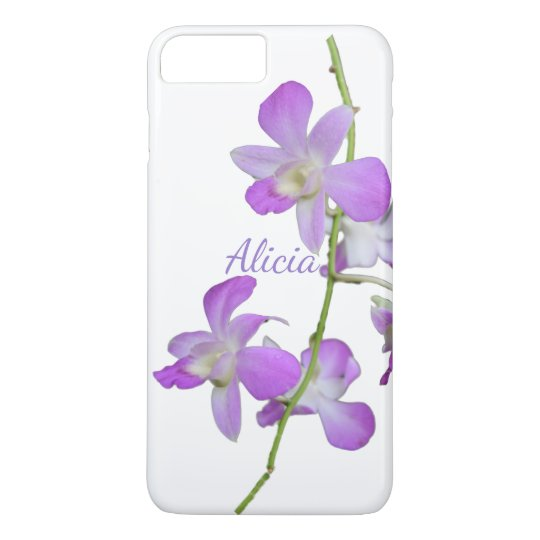 Tropical Orchid purple white iPhone 7 Plus Case