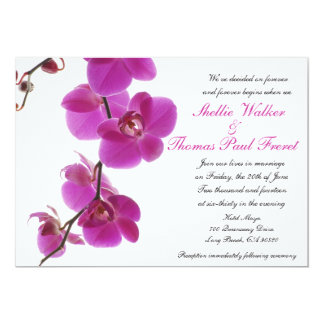 Tropical Orchid Wedding Invitations