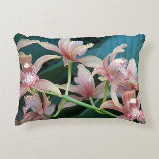 Tropical Orchids Floral Decorative Cushion