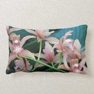 Tropical Orchids Floral Lumbar Cushion
