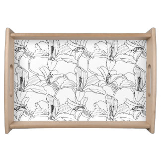 Tropical Outlines Breakfast Tray