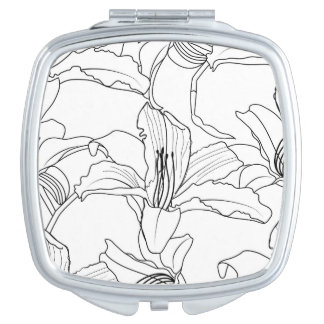 Tropical Outlines Compact Mirror