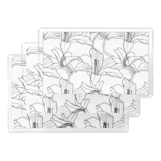 Tropical Outlines Floral Vanity Tray