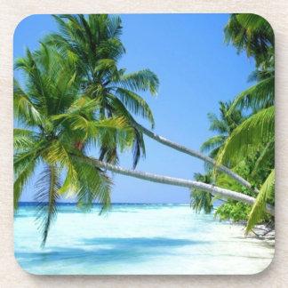 Tropical Palm Beach! Beverage Coasters