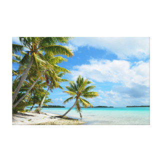 Tropical palm beach gallery wrap canvas