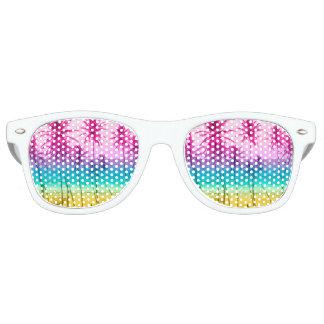 Tropical palm beach rainbow filter retro sunglasses