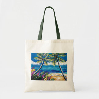 TROPICAL PALM BEACH TOTE BAG